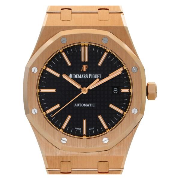 Audemars Piguet Royal Oak 15400OR.OO.1220OR.01 18k Pink Gold Black dial 41mm Aut