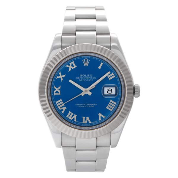 Rolex Datejust II 116334 Stainless Steel Blue dial 41mm Auto watch