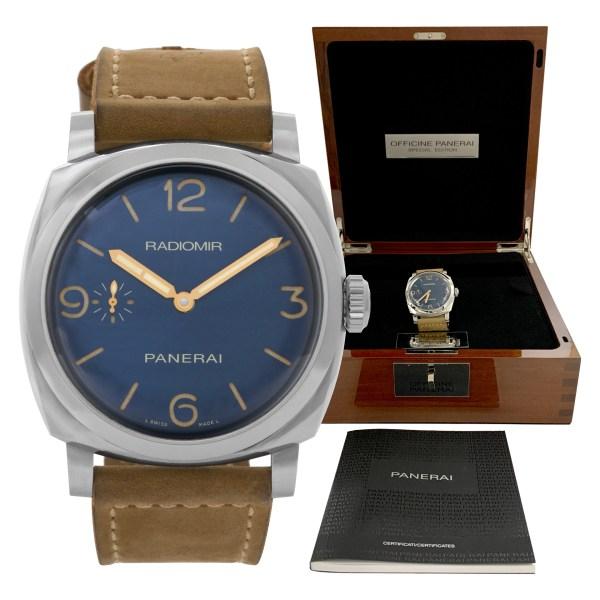 Panerai Radiomir PAM00690 Stainless Steel Blue dial mm Manual watch