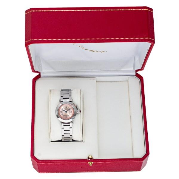 Cartier Miss Pasha W3140008 Stainless Steel Pink dial 26.5mm Quartz watch