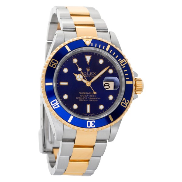 Rolex Submariner 16613 18k & Stainless Steel Blue dial 40mm Automatic watch