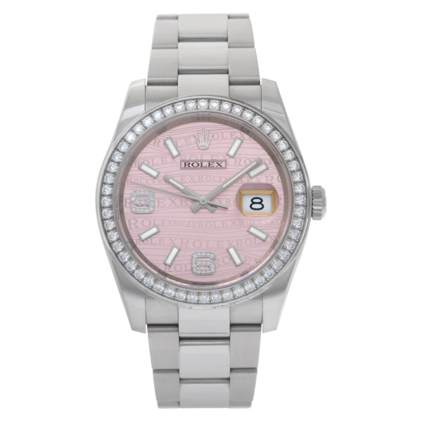 Rolex Datejust 116244 Stainless Steel Pink dial 37mm Automatic watch