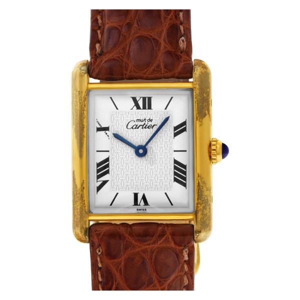 Cartier Must de 1615 Vermeil White dial 23mm Quartz watch