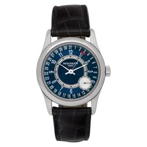 Patek Philippe Calatrava 6000G 18k White Gold Blue dial 37mm Automatic watch