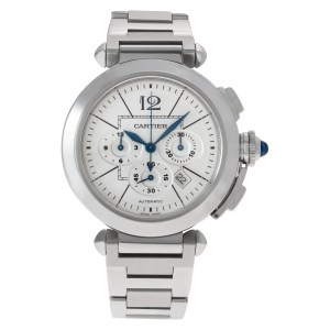 Cartier Pasha 42mm w31085m7 stainless steel 42mm auto watch