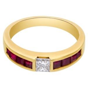 Tiffany Ruby & diamond ring in 18k
