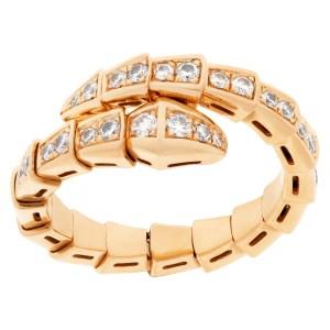 Bvlgari Serpenti Viper Ring in 18k rose gold and diamonds