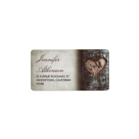 old_rustic_tree_wedding_address_labels-106463273512920360