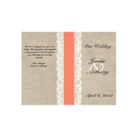 rustic_lace_burlap_coral_ribbon_wedding_program_flyer-244807585575941172