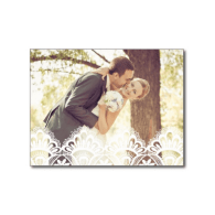 rustic_lace_wedding_thank_you_photo_post_card-239929327080392388