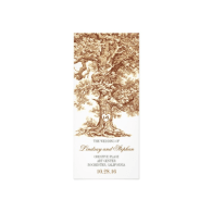old_oak_tree_rustic_wedding_programs_rack_card-245984560256695561