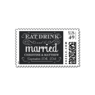 rustic_black_and_white_burlap_wedding_postage-172584201057649838