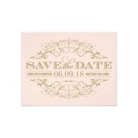 save_the_date_postcard_antique_gold_flourish_invitation-161460658857922590