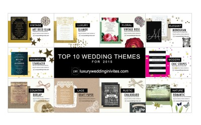 Top 10 Wedding Themes for 2015 – Which Wedding Theme Will You Pick?