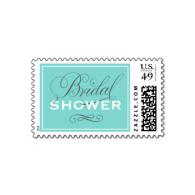 bridal_shower_postage_aqua_pool_blue_white_gray-172647142843389149