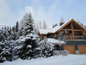 Luxury Whistler Rental at Montebello Winter Outside