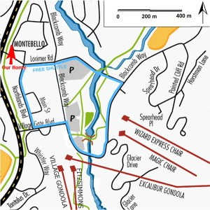Montebello Whistler Lift Map