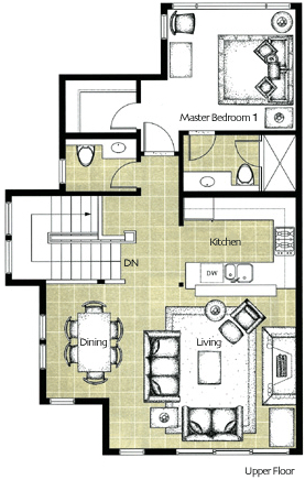Montebello Whistler Upper Floorplan