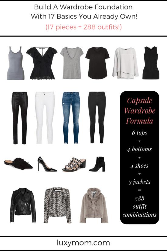 LUXYMOM Best Capsule Wardrobe Example