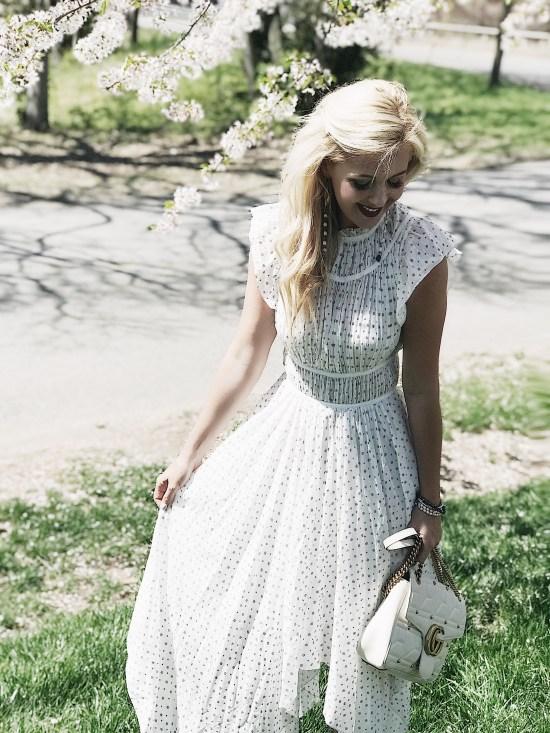 White Eyelet Maxi Dress