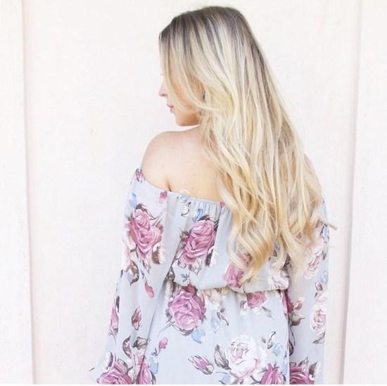 Floral Off The Shoulder Dress For New Moms