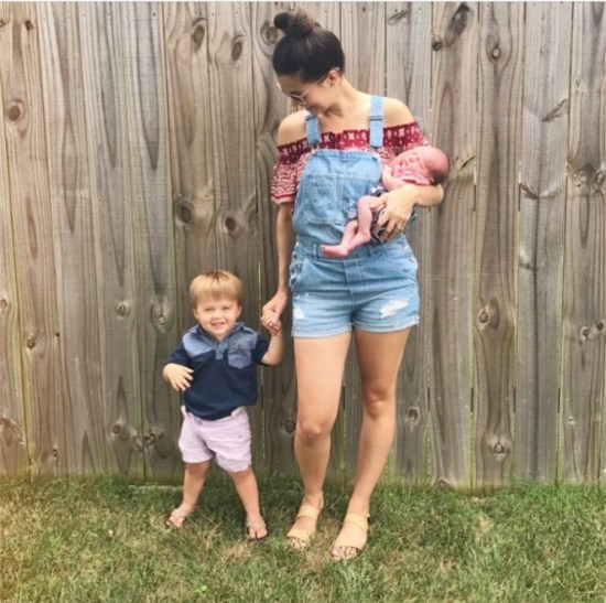 New Mom Overalls Outfit