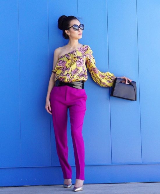 How To Wear Bright Colors - Sleek Silhouette
