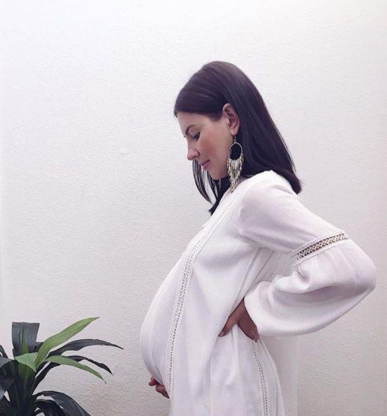 White Boho Maternity Dress