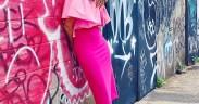 Monochromatic Pink Sheath Dress