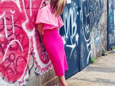 Monochromatic Pink Sheath Dress