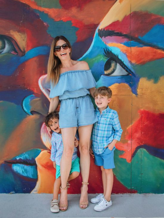 Family Photo stylish mom and kids
