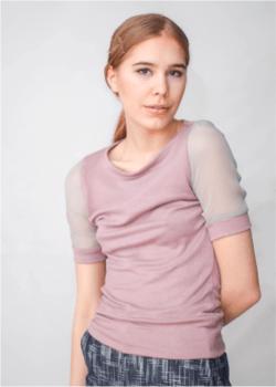 Katie Farnan Mauve Summer Sweater