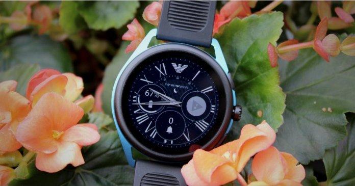 Matte Black Emporio Armani Smartwatch 3