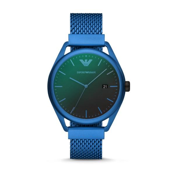 Matte Blue Emporio Armani watch