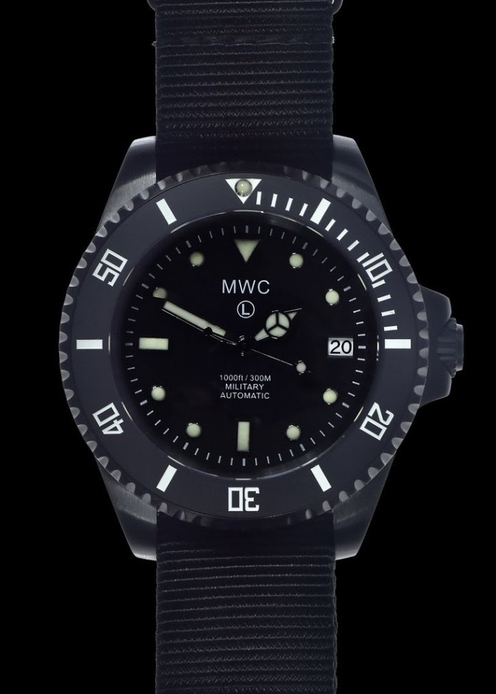 MWC automatic diver watch with ceramic bezel