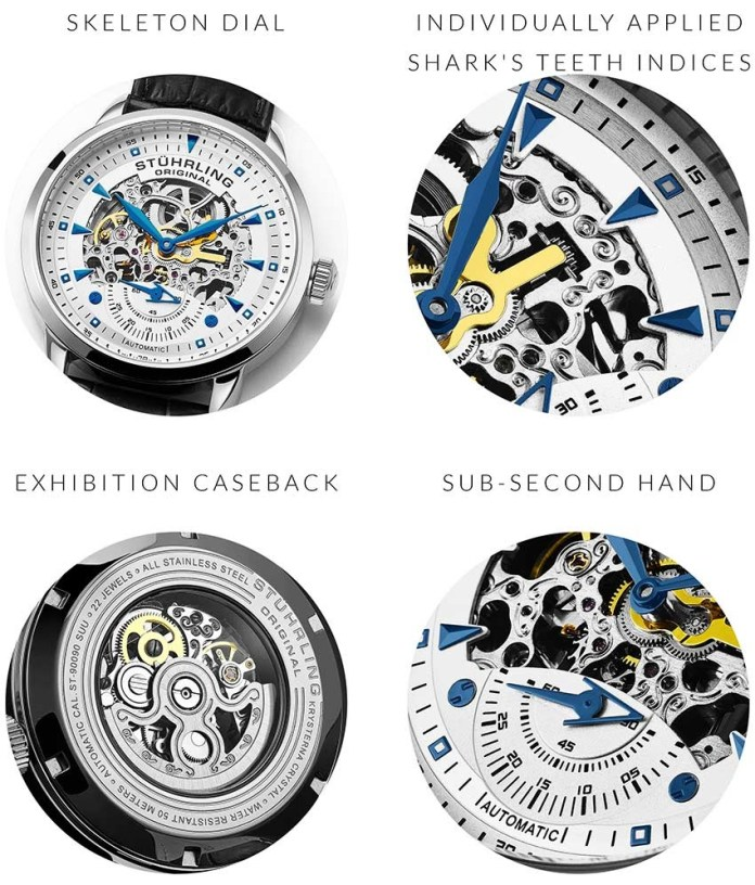 Stuhrling 3133.1 Skeleton Automatic watches
