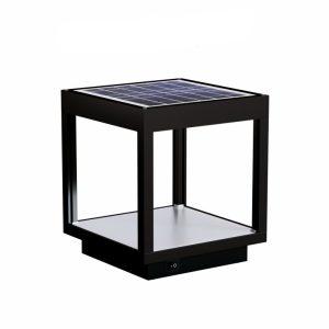 Lámpara solar visor negro