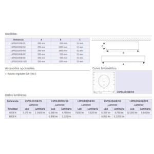 pantalla led superficie arlus medidas
