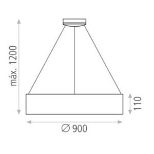 medidas Colgante Dilga 126w 90cm