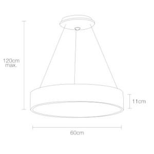 Medidas Lámpara de techo Anneau d´or