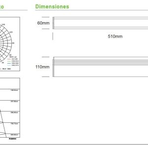 proyector lineal trifasico cronos 40 medidas