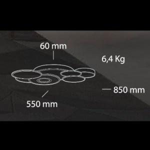 medidas Lámpara de techo Belinus