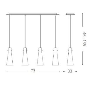 medidas Lámpara de techo Kuky 4L