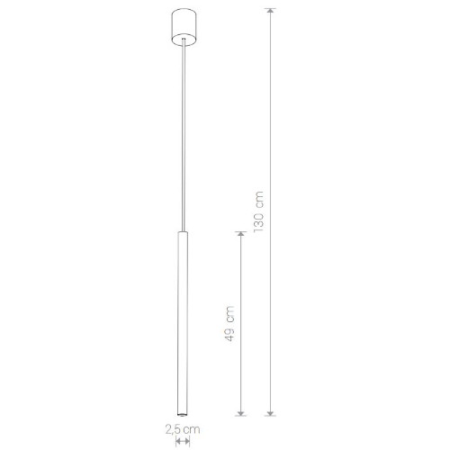 medidas Lámpara techo laser 1L