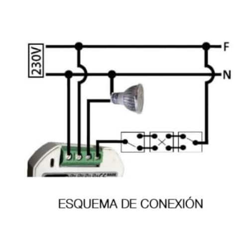 esquema Pastilla reguladora universal led