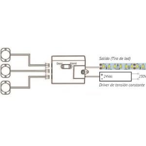 esquema Sensor apertura puerta múltiple