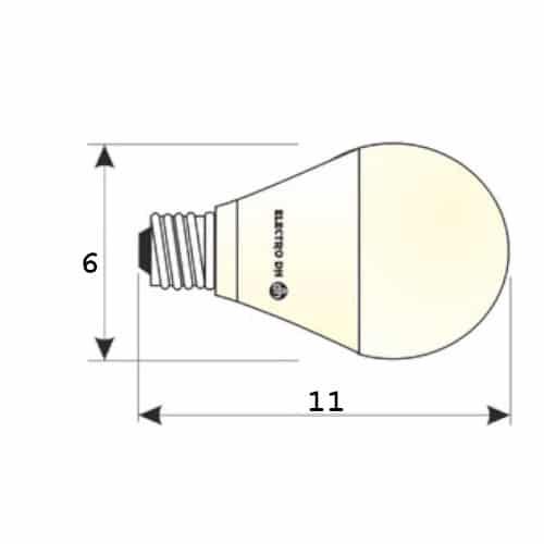 medidas Bombilla 10W sensor crepuscular