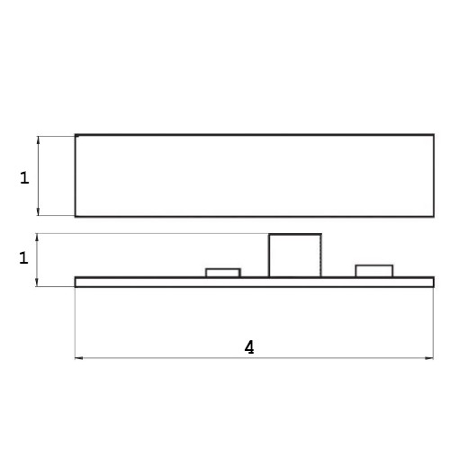 medidas Controlador sensor táctil led