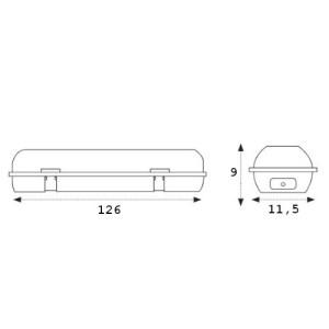 medidas pantalla estanca ip65 2x120cm
