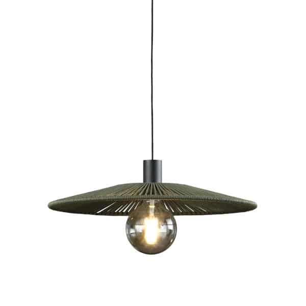 Lámpara de techo Pamela verde
